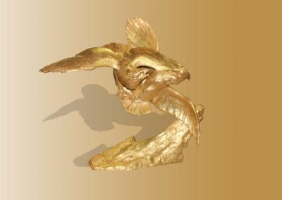 Dorure statue aigle